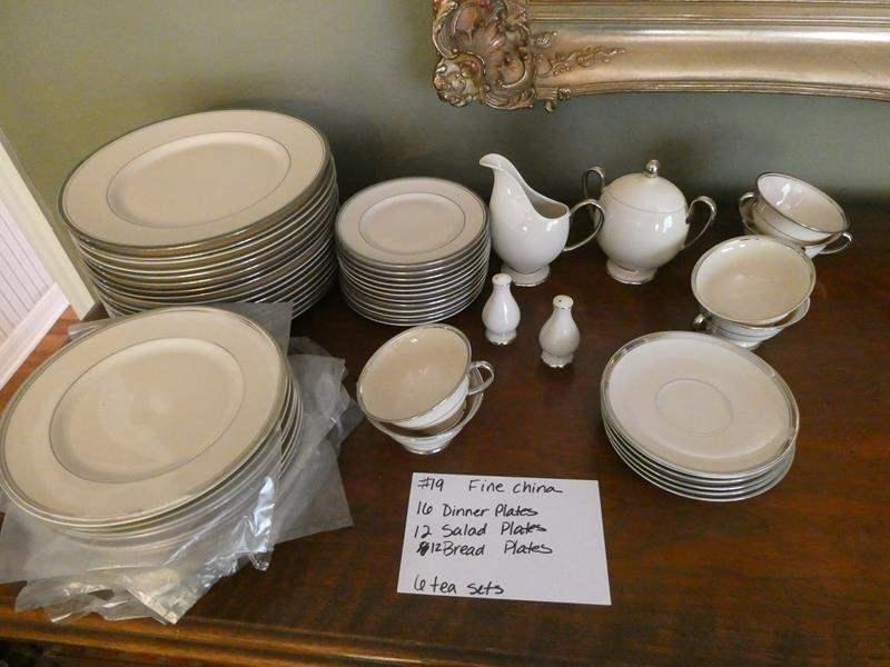 "Lot # 19-Beautiful fine china, ""Huntington""and ""fransiscan Master piece china"" (main image)"