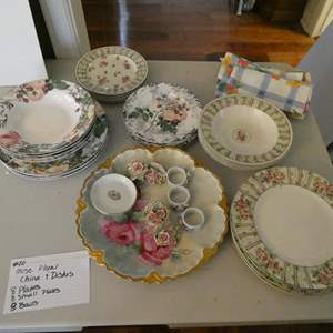 Lot # 20- Floral china and misc. dishes