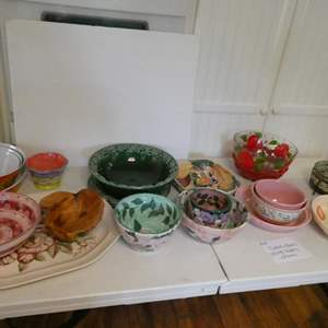Lot # 29- Platters, bowls, serving platters and so much more!