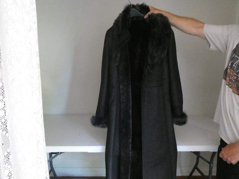 Lot # 136- Women's leather/ lamb Jacket, Tahari, size L (main image)