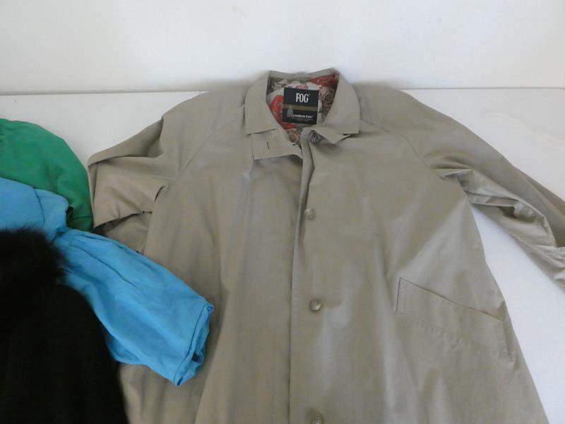 Lot # 137- Women's collection of trench coat and jackets. Name brand  (main image)