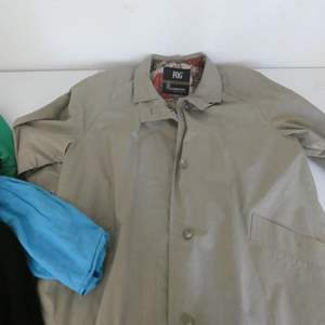 Lot # 137- Women's collection of trench coat and jackets. Name brand