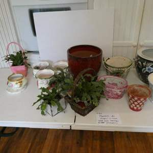 Lot # 34- Pots and planters- all kinds and sizes! 14 total
