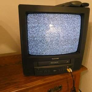 Lot # 147-Toshiba TV/VCR combo. (tested)