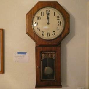 Lot # 150-Regulator wall clock & wall art