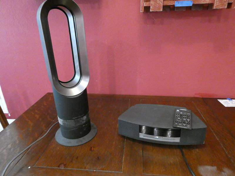 Lot # 44- Dyson hot or cool fan, and Bose CD speaker (main image)
