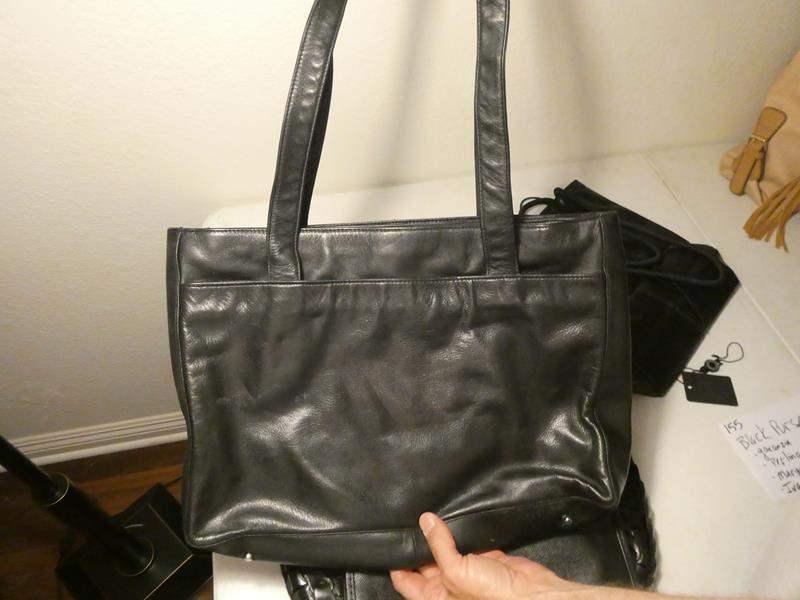Lot # 155-Black hand bag collection, Garanzia, Perling, Macgo Avane, Ivanka (main image)
