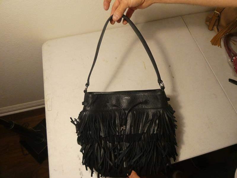 Lot # 156-Ralph Lauren black leather hand bag (main image)