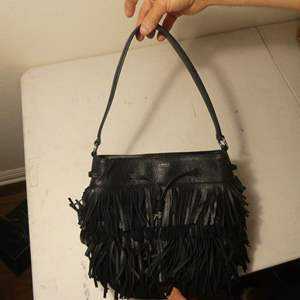Lot # 156-Ralph Lauren black leather hand bag