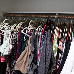 """Lot # 212-Ladies Clothes (mostly medium), some tags on, """"women control"""" all pants and leggings."""