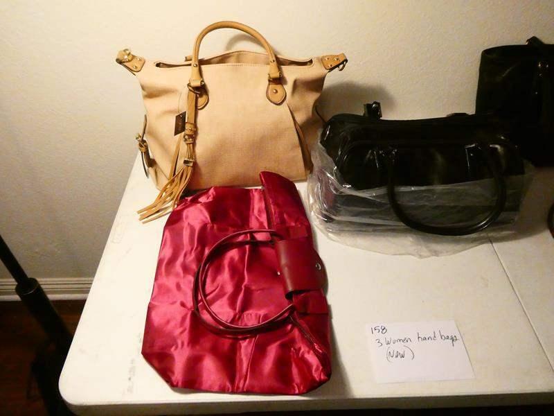 Lot # 158-3 women's hand bags NEW (main image)