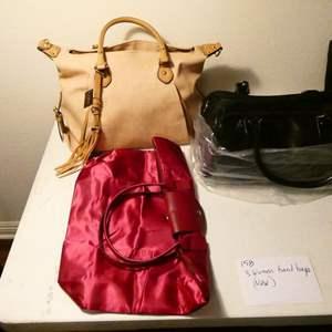 Lot # 158-3 women's hand bags NEW