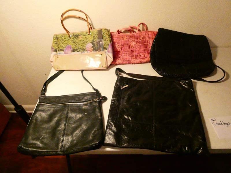 Lot # 160-5 handbags (lightly used) (main image)
