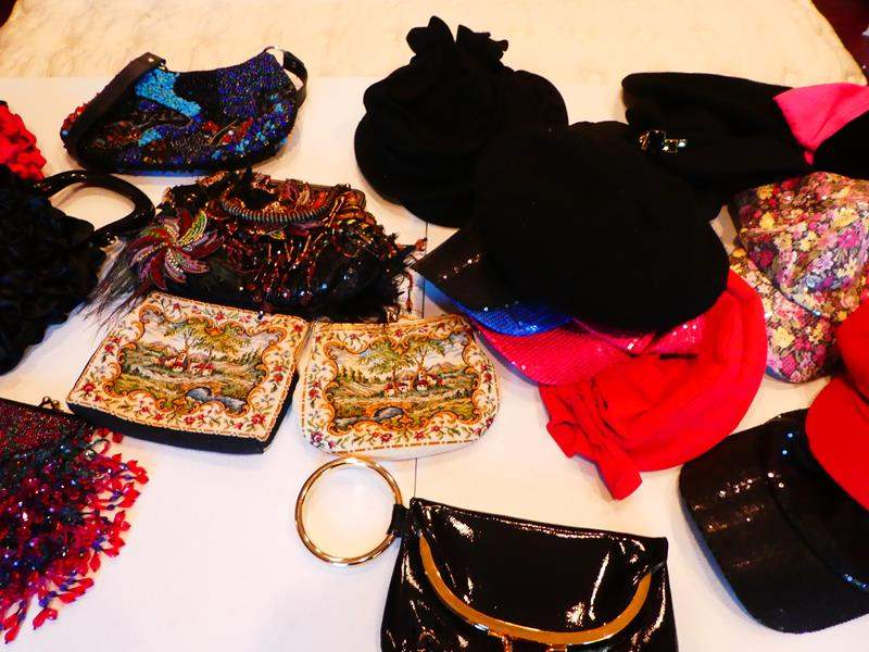 Lot # 215-Purses & hats, vintage, beads & much more. (main image)