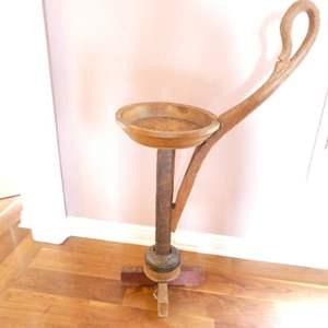 """Lot # 306-Vintage wood plant holder 30"""" to base"""