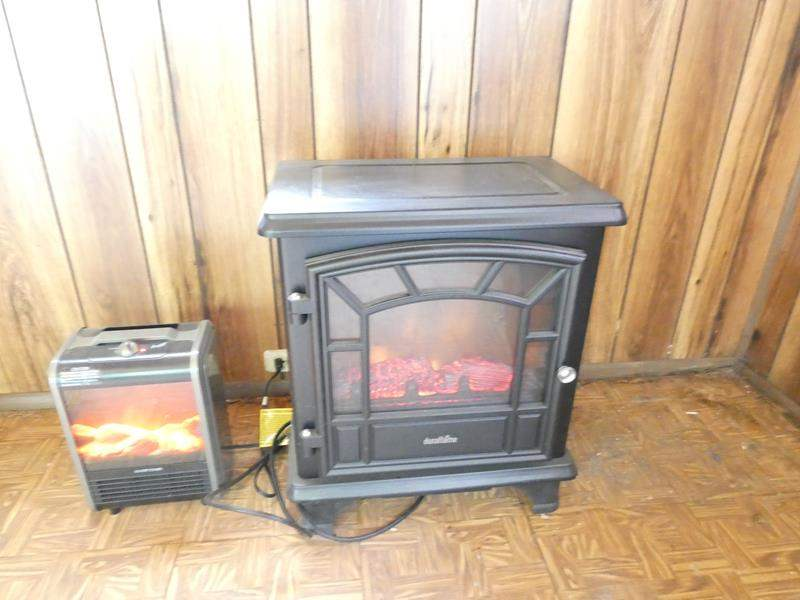 """Lot # 320-2 plug in heaters  Fireplace style duraflame heater 20""""x 24 """" (2 heaters total) (main image)"""