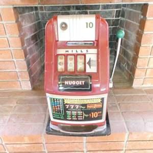 Lot # 322-Vintage Mills slot machine (steel)