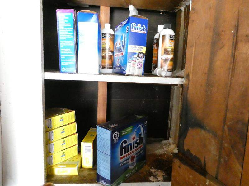Lot # 329-Miscellaneous cleaning products napkins foil and more. (main image)