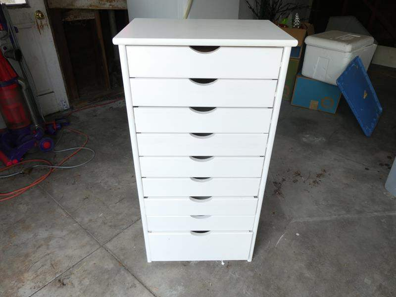 """Lot # 336-Brand new tall dresser, small drawers, great condition 39""""tall, 19""""wide, 14"""" deep. (main image)"""