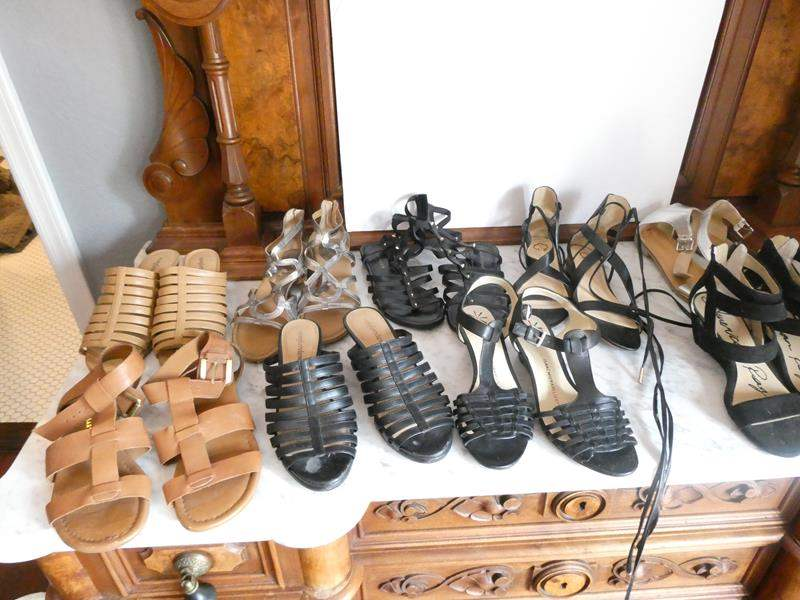 Lot # 222-Sexy sandal collection size 7-8 (main image)