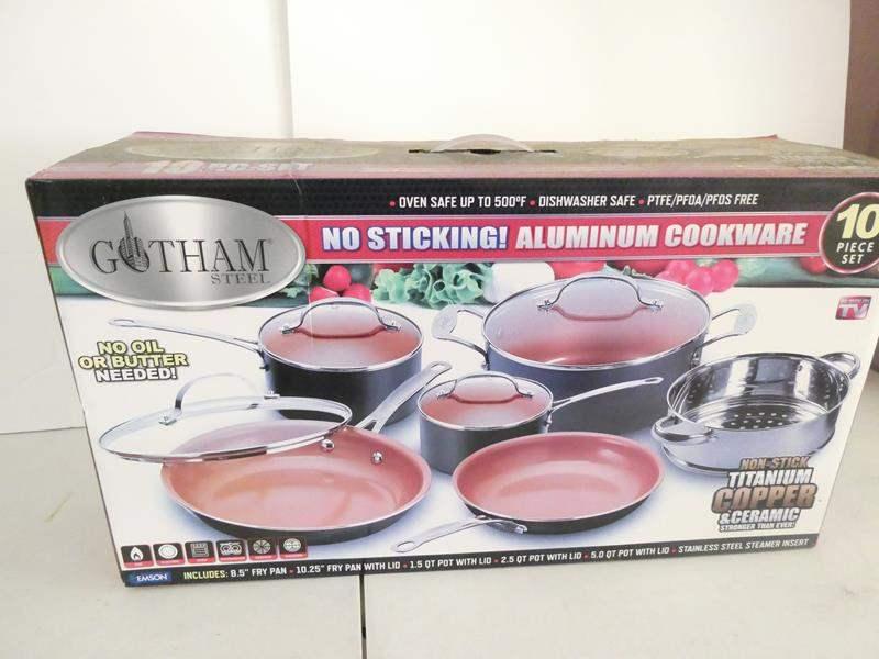 Lot # 228-Gotham steel no stick aluminum cookware 10 piece set (main image)