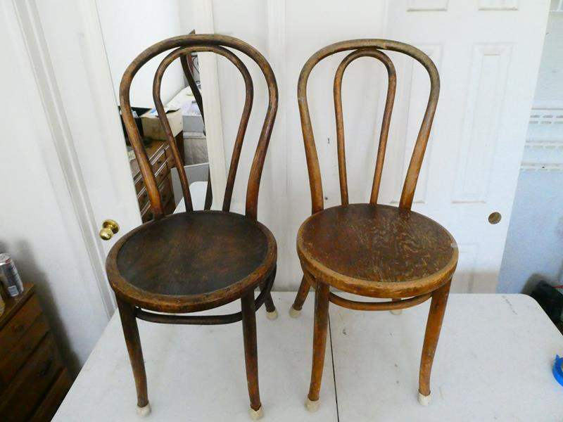 Lot # 111-Antique wooden chairs (main image)