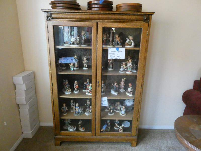 Lot # 15- Antique china hutch- smaller size, contents not included (main image)