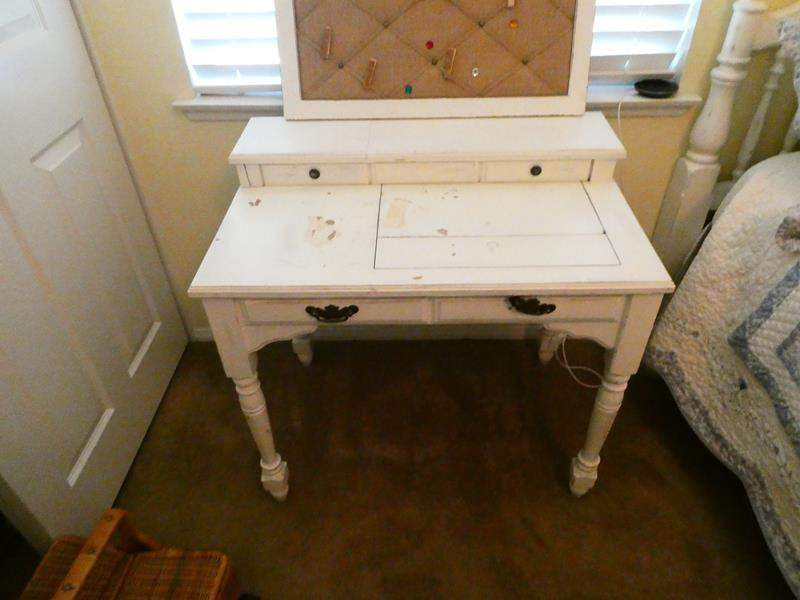 Lot # 147-Wood table with pin cushion (main image)
