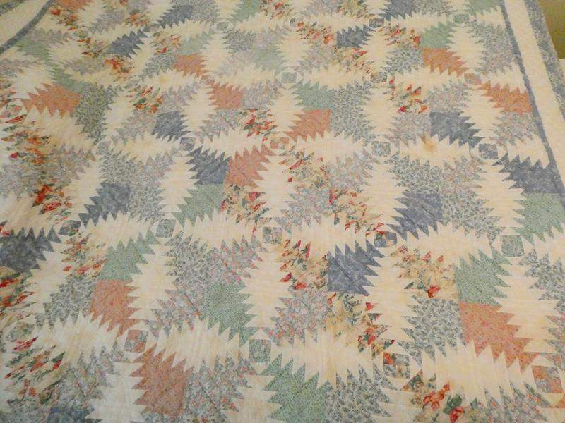 Lot # 148-Blue and white quilt (main image)