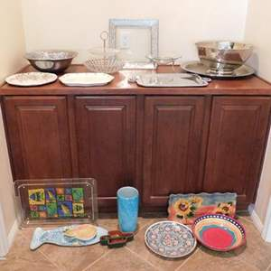 Auction Thumbnail for: Lot # 92-Serving platters, bowls and dishes.