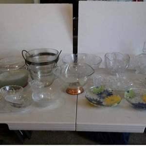 Auction Thumbnail for: Lot # 44-Glass kitchen wear, bowls, plates, vase platter