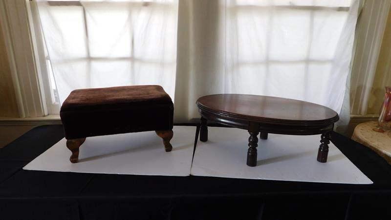 Lot # 26- Two Vintage foot stools (main image)