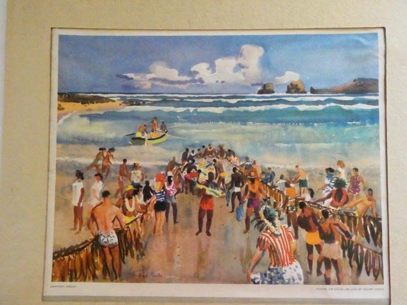 Lot # 111- Hawaiian Hukilau by the famous Millard Sheets (1952) (main image)