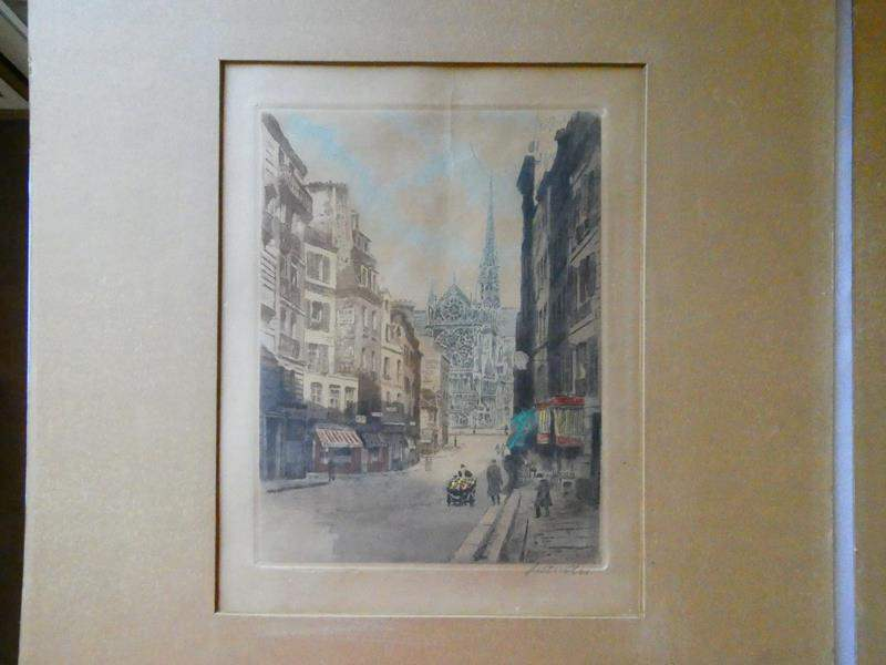 Lot # 112- Two signed European prints  (main image)