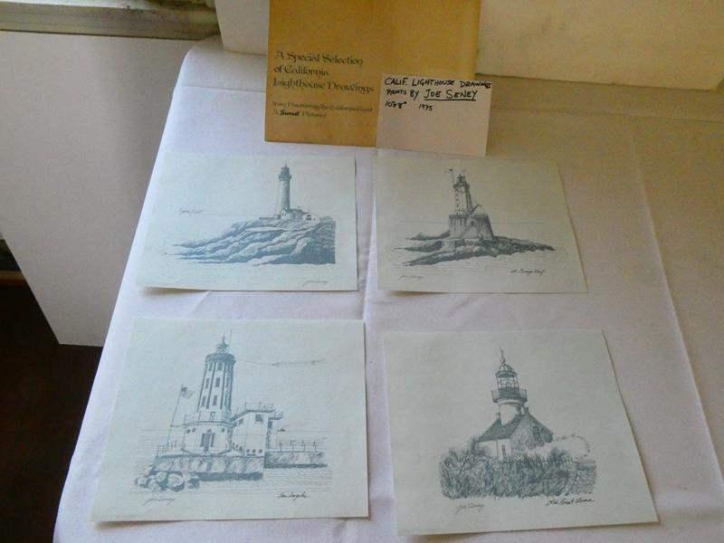 Lot # 115- California Lighthouse drawing prints by Joe Seney (main image)