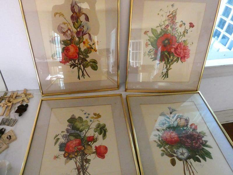 Lot # 126- Rare find: Antique Jean Louis Prevost floral bouquet prints  (main image)