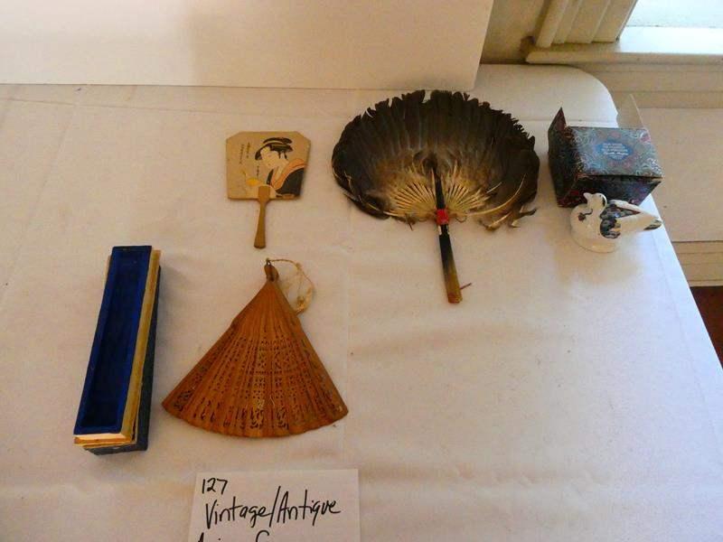 Lot # 127- Vintage / antique Asian fan collectibles (main image)