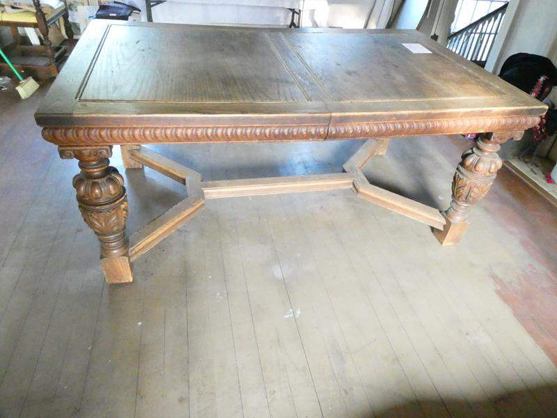 Lot # 132- Vintage wooden table (main image)