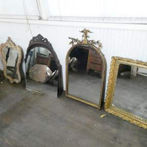 Auction Thumbnail for: Lot # 134- Four victorian style mirrors & table base