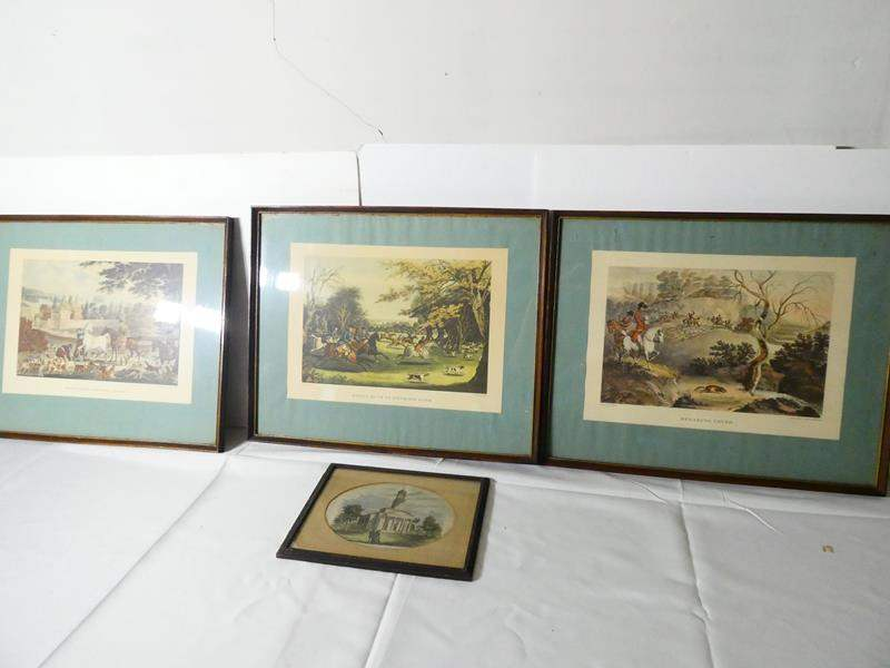 Lot # 140- R Pollard Vintage Prints + bonus Adams Temple print (main image)