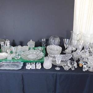 Auction Thumbnail for: Lot # 56- Assorted crystal and glass ware.
