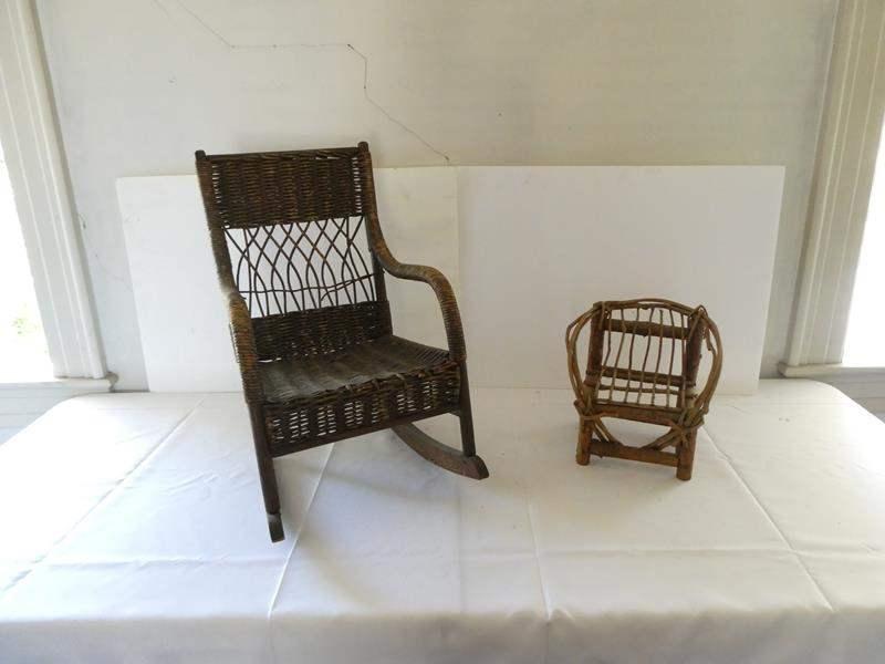 Lot # 143- Vintage children's rocking chairs (main image)