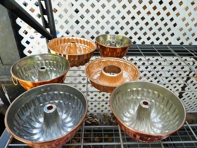Lot # 406- Copper colored Jello mold kitchen decorations (main image)