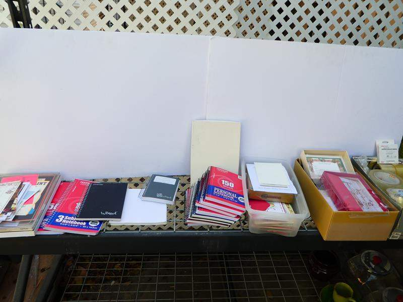 Lot # 412- Cards, small note pads, tapes and misc. office items (main image)