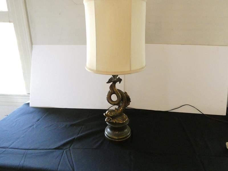 Lot # 163- Solid metal lamp- Bronze or brass (main image)