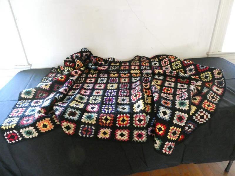 Lot # 167- Homemade Afghan throw (main image)