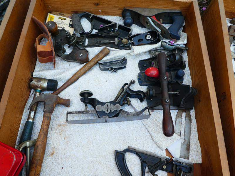 Lot # 433- Drawer full of vintage tools, drawer #3 (main image)
