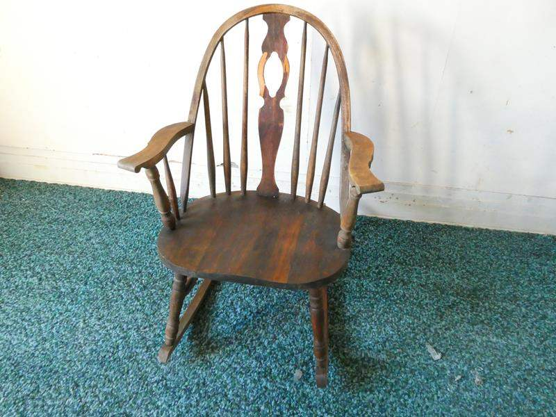 Lot # 173- Antique rocking chair (main image)