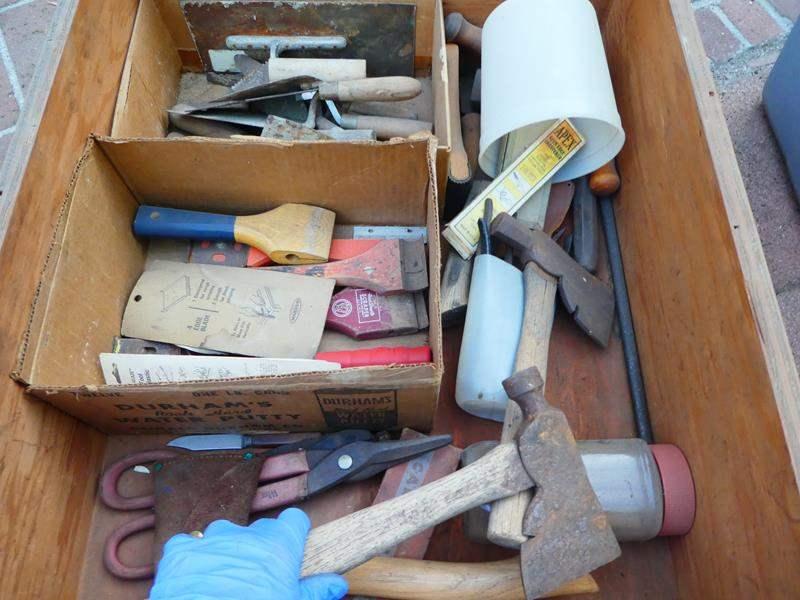 Lot # 438- Vintage tools- Drawer #8 (main image)