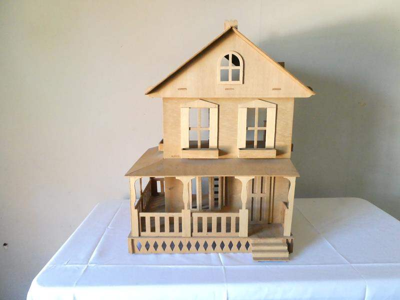 Lot # 176- Wooden doll house (main image)